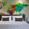 Fototapeta - Paint splashes map of the World 1