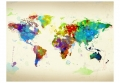 Fototapeta - Paint splashes map of the World 4