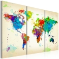 Obraz - All colors of the World - triptych 1