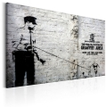 Obraz - Graffiti Area (Police and a Dog) by Banksy 1