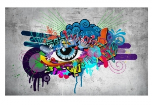 Fototapeta - Graffiti eye