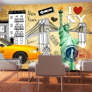 Fototapeta - One way - New York