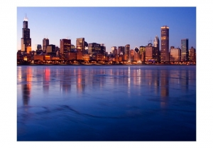 Fototapeta - Icy Downtown Chicago