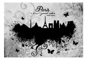 Fototapeta - Paris is always a good idea - black and white